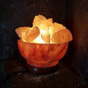 Himalayan Salt Fire Bowl Lamp