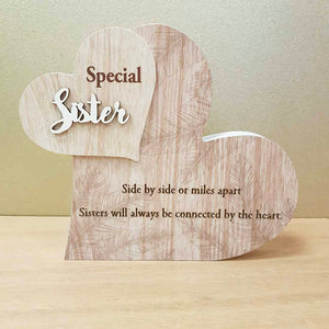 Special Sister Heart Plaque
