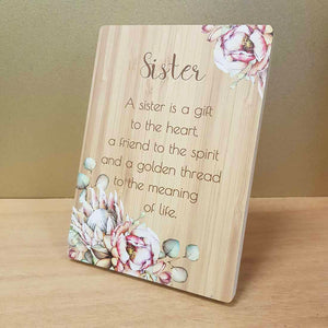 A Sister is a Gift Plaque
