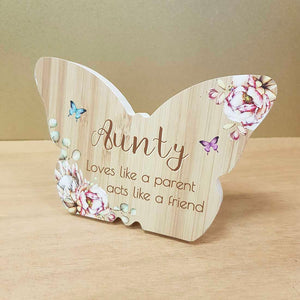Aunty Butterfly Plaque