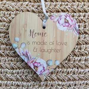 Home is Made of Love Heart Wall Plaque