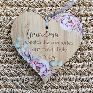Grandma Creates the Memories Heart Wall Plaque