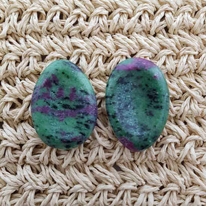 Ruby in Zoisite Worry Stone
