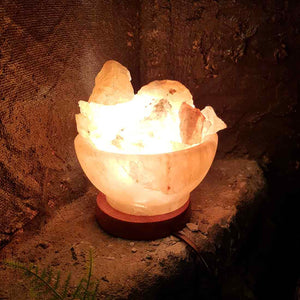 Himalayan Salt Fire Bowl Lamp (assorted)