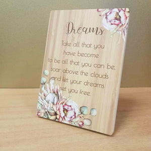 Dreams Plaque