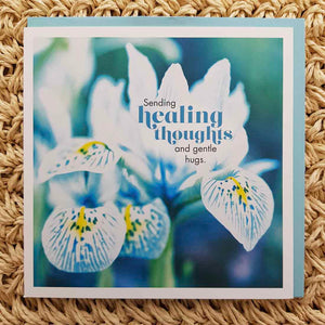 Sending Healing Thoughts and Gentle Hugs Card
