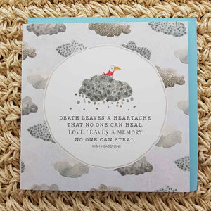 Death Leaves a Heartache Sympathy Card