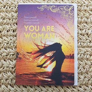 You Are Woman, Trust Yourself Card