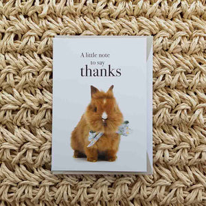 A Little Note to Say Thanks Card