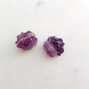 Rainbow Fluorite Flower Bead
