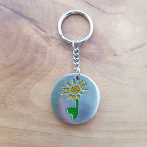 Sun Flower Keyring (metal)