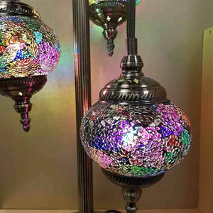 Colourful 3 Tier Turkish Style Mosaic Lamp