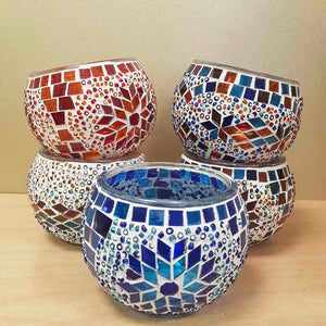 Colourful Turkish Mosaic Candle Holder