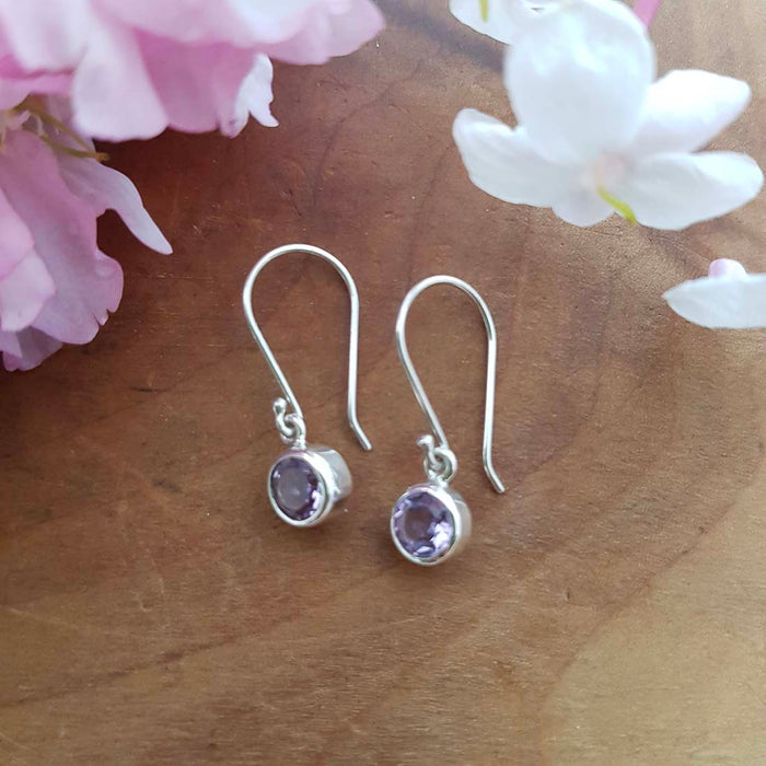 Amethyst Earrings (sterling silver)