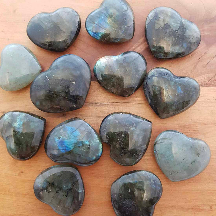 Labradorite Heart (assorted. approx. 3-4x3-4ish cm)