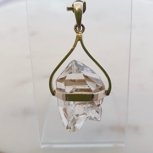 New York Herkimer Diamond Pendant (sterling silver)