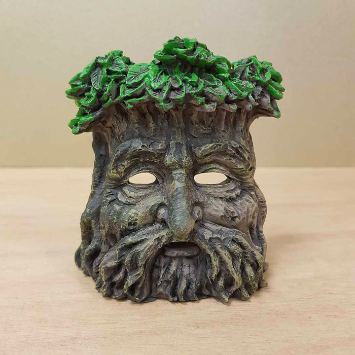 Green Man Incense & Candle Holder (approx. 9x8x7cm)