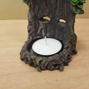 Green Man Incense & Candle Holder