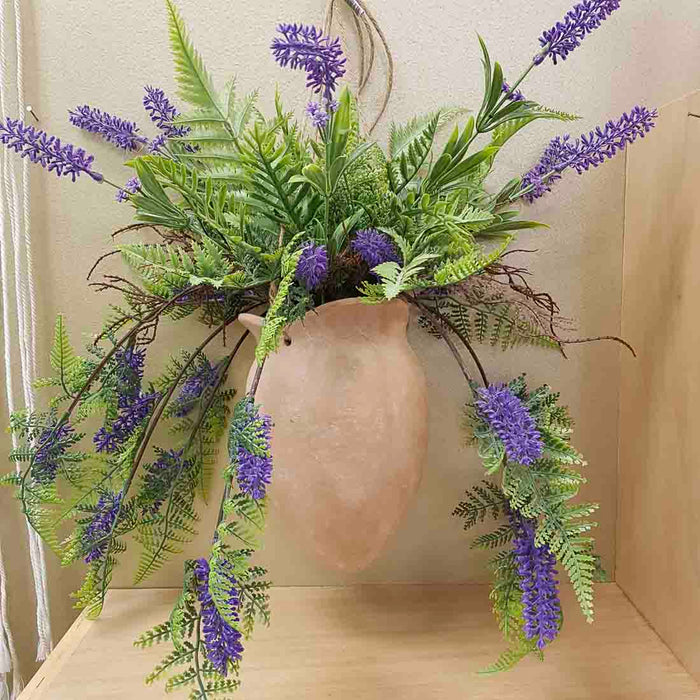 Faux Lavender Hanging in Pot (approx. 90cm)