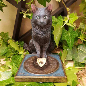 His Masters Voice Cat Figurine by Lisa Parker