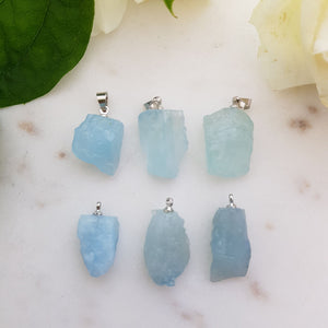 Aquamarine Raw Pendant (assorted)