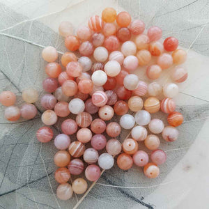Botswana Agate Faceted Bead