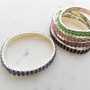 Diamante Bracelet (assorted colours)
