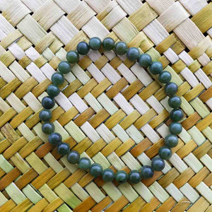 NZ Greenstone Ball Bracelet