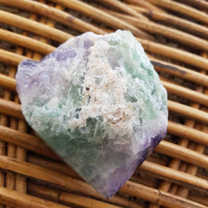 Rainbow Fluorite Point with Rough Cut Base