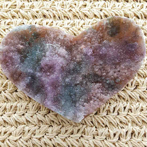 Natural Amethyst Druzy Heart