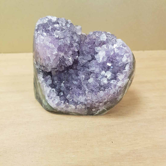 Amethyst Cluster with Polished Edge (standing. approx. 9x10x6cm)
