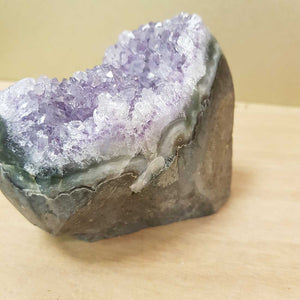 Amethyst Cluster with Polished Edge