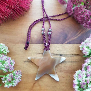Agate Star Wrapped Pendant