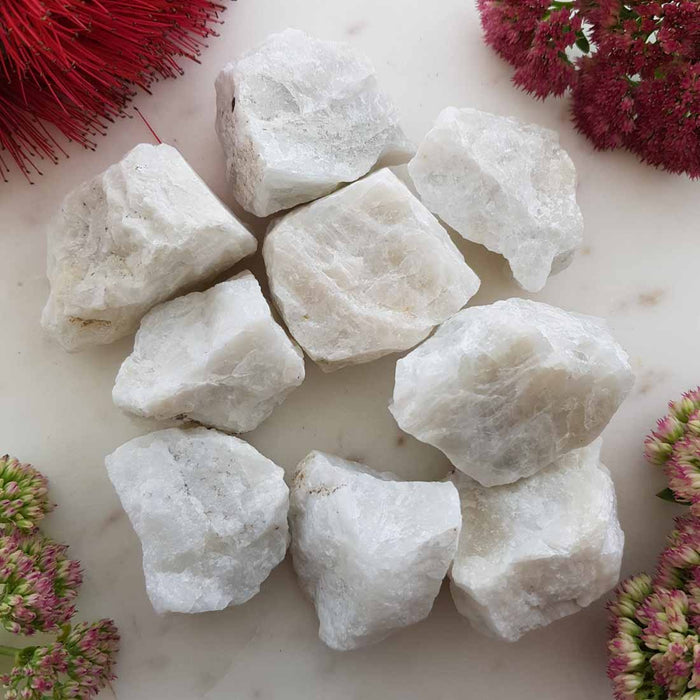 White Moonstone Rough Rock (assorted. approx. 4x4cm plus)