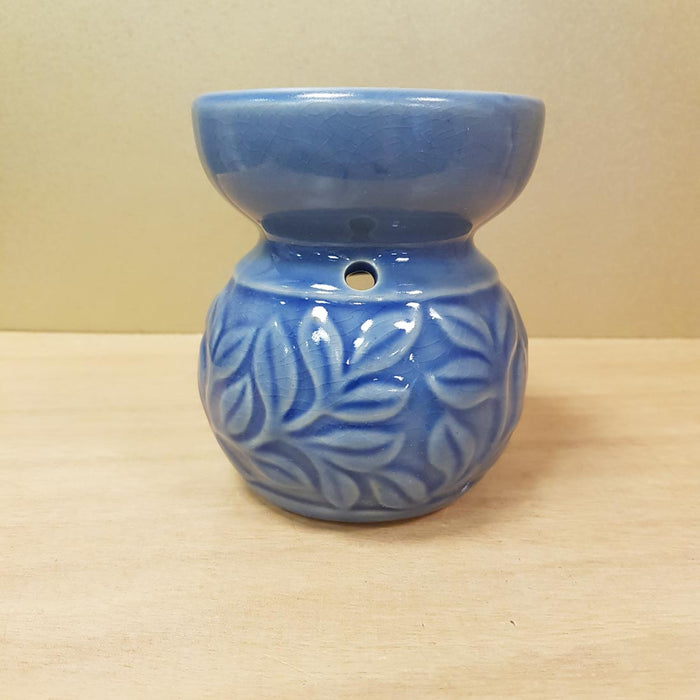 Blue Leaf Oil Burner (approx. 11x8cm)