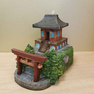 Japanese Garden Temple Backflow Incense Burner