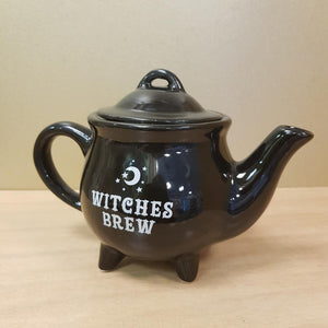 Witches Brew Ceramic Black Teapot