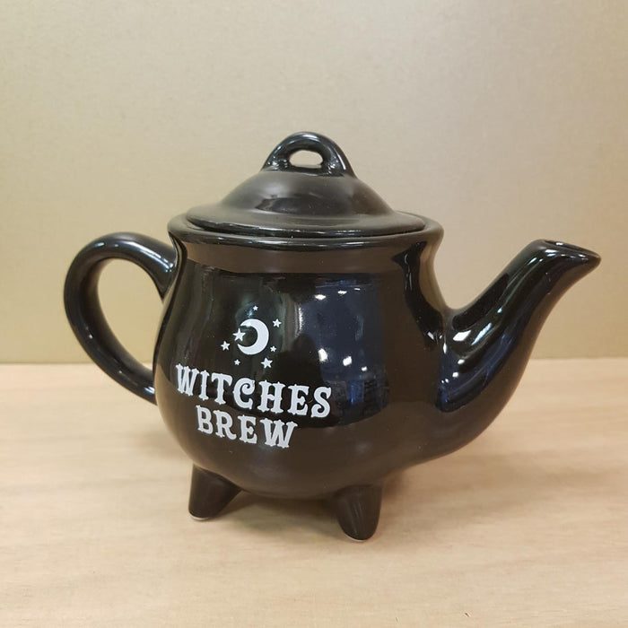 Witches Brew Ceramic Black Teapot (approx. 18.5 x 14 x 11cm)
