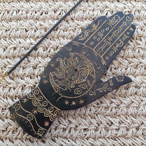 Gold Palmistry Incense Holder