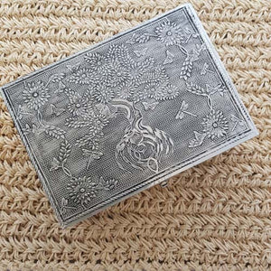 Tree Of Life White Metal Box