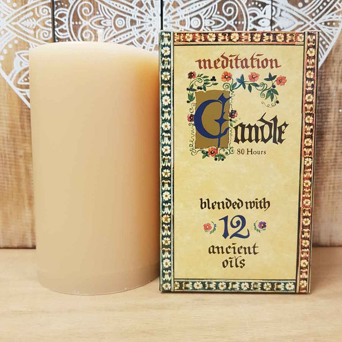 Meditation Candle (approx. 80 hours burn time)