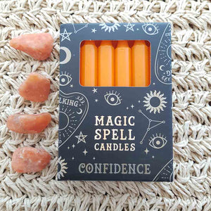 Orange Confidence Magic Spell Candles