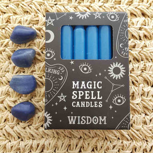 Blue Wisdon Magic Spell Candles