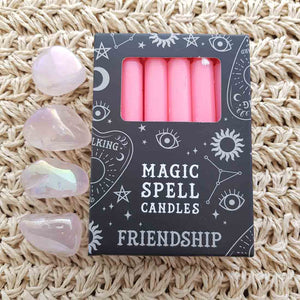 Pink Friendship Magic Spell Candles