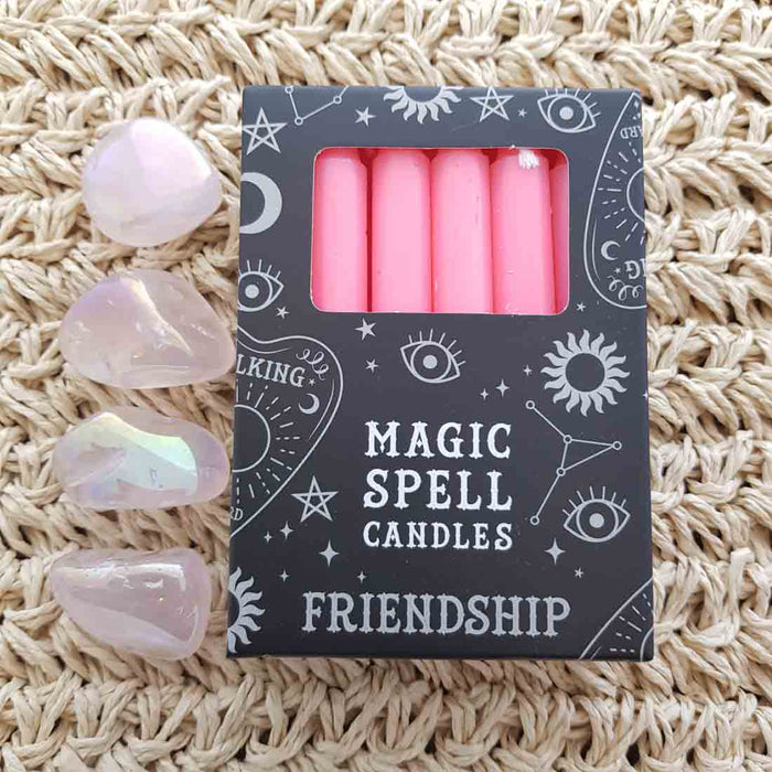 Pink Friendship Magic Spell Candles (box of 12 approx. 10x1cm per candle)