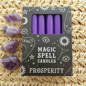 Purple Prosperity Magic Spell Candles