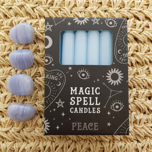 Light Blue Peace Magic Spell Candles