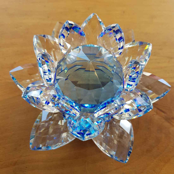 Blue Lotus Crystal (approx. 12x12x6.5cm)