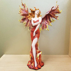 Fire Fairy on Candle Look Pedestal