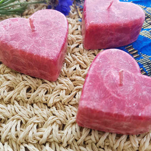 Cranberry Heart Candle